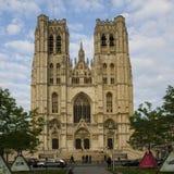 Catedral em Bruxelas Imagens de Stock