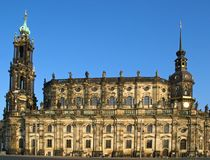 Catedral em Dresden, Alemanha Imagens de Stock Royalty Free