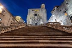 Catedral em Girona, Espanha fotos de stock