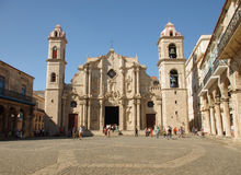 Catedral em Havana Cuba imagem de stock