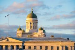 Catedral em Helsínquia, Finlandia Imagens de Stock Royalty Free