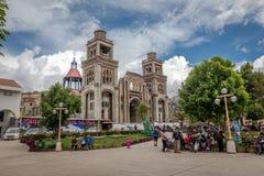 Catedral em Huaraz, Peru, Ámérica do Sul fotografia de stock royalty free