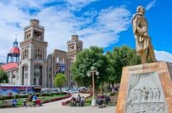 Catedral em Huaraz, Peru, imagens de stock royalty free