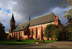 Catedral em Kaliningrad Fotos de Stock Royalty Free