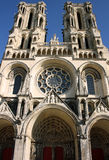 Catedral em Laon (France) imagens de stock royalty free