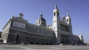 Catedral em Madrid fotografia de stock