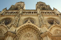 Catedral em Orleans (France) imagens de stock