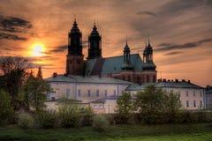 Catedral em Poznan imagem de stock royalty free