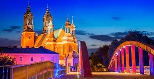 Catedral em Poznan, Poland fotos de stock