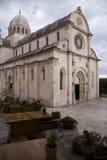 Catedral em Sibenik (Croácia) Imagem de Stock Royalty Free