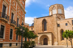 Catedral em Valença, Spain imagem de stock