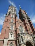 Catedral em Wroclaw Foto de Stock