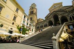 Catedral en amalfi Fotografía de archivo