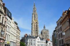 Catedral en Antwerpen foto de archivo