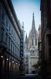 Catedral en Barcelona, España Imagenes de archivo