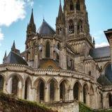 Catedral en Bayeux Fotos de archivo libres de regalías