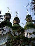 Catedral en el sity de Kiev Foto de archivo libre de regalías