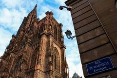 Catedral en Estrasburgo, Francia imagenes de archivo