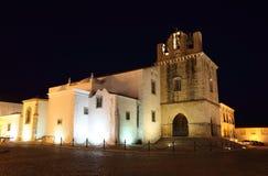 Catedral en Faro, Portugal Fotos de archivo libres de regalías