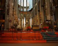 Catedral en fotos de la acción de Colonia - de Pascua Imágenes de archivo libres de regalías