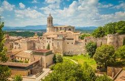 Catedral en Girona, Catalunya españa Foto de archivo