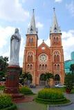 Catedral en Ho Chi Minh City Imagen de archivo