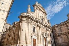 Catedral en la ciudad antigua de Monopoli Imagen de archivo libre de regalías