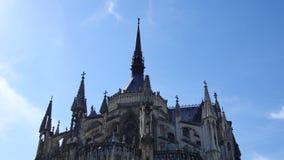 Catedral en la ciudad de Reims almacen de video
