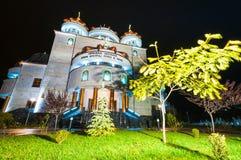 Catedral en la noche Foto de archivo libre de regalías