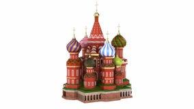 Catedral en la Plaza Roja en Moscú ilustración del vector