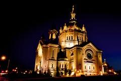 Catedral en la puesta del sol Imágenes de archivo libres de regalías