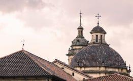 Catedral en la tercera opinión de la puesta del sol Foto de archivo libre de regalías