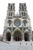 Catedral en Laon (Francia) Imagen de archivo