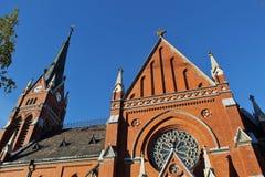 Catedral en Luleå foto de archivo
