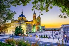 Catedral en Madrid Imagen de archivo