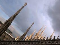 Catedral en Milano Fotografía de archivo libre de regalías