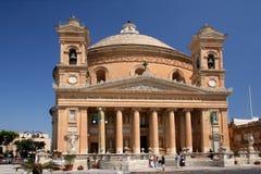 Catedral en Mosta Imagen de archivo libre de regalías
