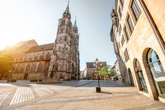 Catedral en Nurnberg, Alemania imagen de archivo libre de regalías