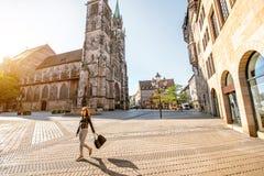 Catedral en Nurnberg, Alemania fotos de archivo