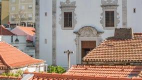 Catedral en Odivelas, Portugal Opinión hermosa del día Distrito de Lisboa almacen de metraje de vídeo