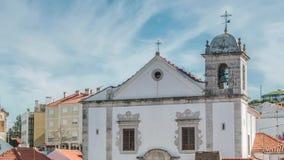 Catedral en Odivelas, Portugal Opinión hermosa del día Distrito de Lisboa almacen de video