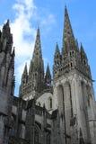 Catedral en Quimper, Francia fotos de archivo libres de regalías