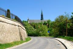 Catedral en Sandomierz, Polonia Foto de archivo libre de regalías