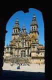 Catedral en Santiago de Compostella Fotografía de archivo libre de regalías