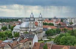 Catedral en Satu Mare imagen de archivo libre de regalías