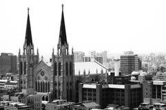 Catedral en Seul, Corea Fotografía de archivo