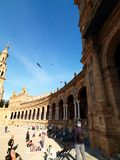 Catedral en Sevilla, Andalucía, España En abril de 2015 Foto de archivo libre de regalías
