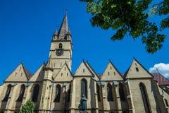 Catedral en Sibiu Imagen de archivo