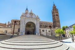Catedral en Tarazona de Aragón, Zaragoza, España foto de archivo