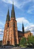 Catedral en Uppsala Imágenes de archivo libres de regalías